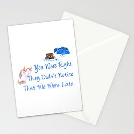 Late Unicorns Missed Noahs Ark Funny Gift Stationery Cards