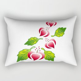 Flower art work,design,red heart flower,Flower Line Rectangular Pillow