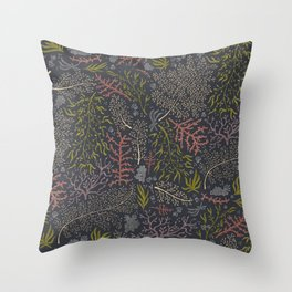 Coral Reef Pattern Throw Pillow