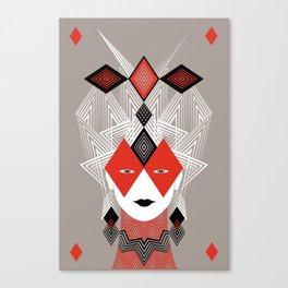 The Queen of diamonds Canvas Print
