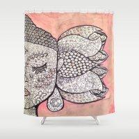zen Shower Curtains featuring Zen by Hallie McIntyre