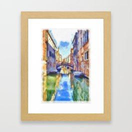 Venice - watercolor - signed Framed Art Print