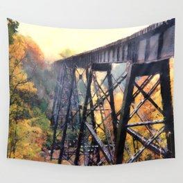 Upper Peninsula Train Trestle Wall Tapestry