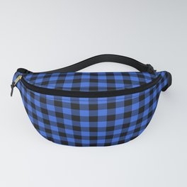Classic Royal Blue Country Cottage Summer Buffalo Plaid Fanny Pack
