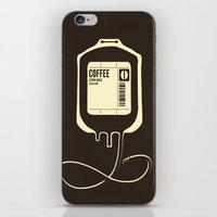 coffee iPhone & iPod Skins featuring Coffee Transfusion by Tobe Fonseca