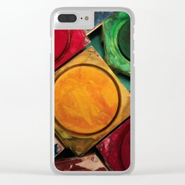 Artists Watercolor Paint Box Palette Clear iPhone Case