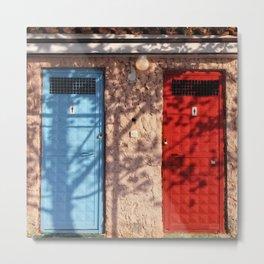 Male- female-two doors-bue-red Metal Print