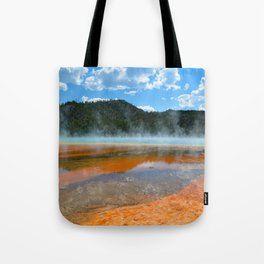 Grand Prismatic Pool - Yellowstone National Park, Wyoming Tote Bag