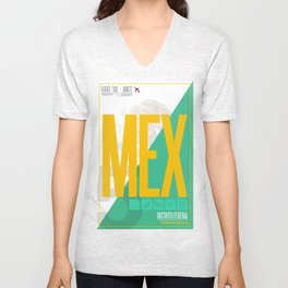 Mexico City - Ciudad de la Esperanza Travel Poster Unisex V-Neck