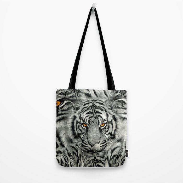 TIGER PAW-TRAIT Tote Bag