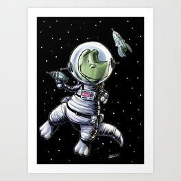 Astro-Dinosaur Art Print