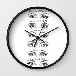 Different Eyes Wall Clock
