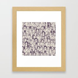WOMEN OF THE WORLD PURPLE Framed Art Print