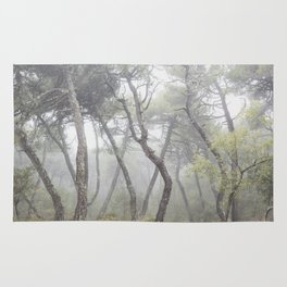 """""""Forest dance"""". Into the foggy woods... Rug"""