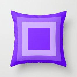 Blue Square Design Throw Pillow