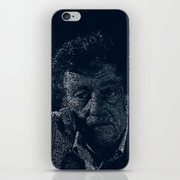 vonnegut iPhone & iPod Skins featuring Kurt Vonnegut Typographic Print by Bookish Prints