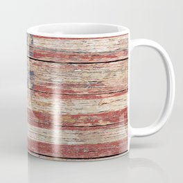 Americana Rustic Flag A643 Coffee Mug