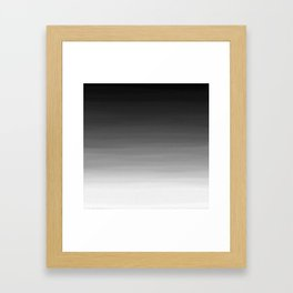 Black and White Haze Abstract Ombre Framed Art Print