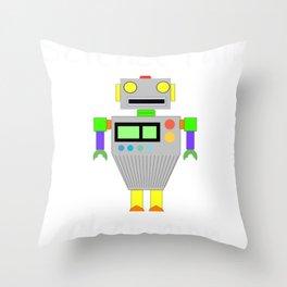 Science Fair Champion Robot Throw Pillow