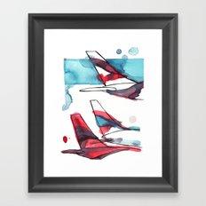Layover Framed Art Print