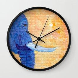 Ellie in Blues Wall Clock