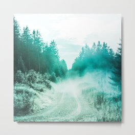 road to freedom turquoise aesthetic wildlife art altered photography Metal Print