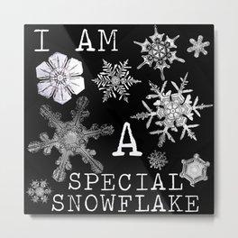 Special Snowflake Metal Print