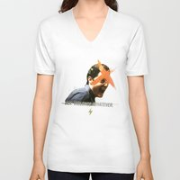 dale cooper V-neck T-shirts featuring Black Mirror | Dale Cooper Collage by Julien Ulvoas