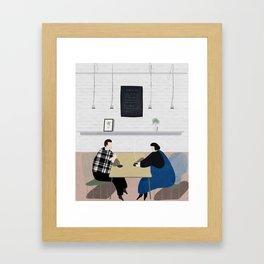Cafe Conversations Framed Art Print