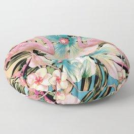 Vintage Flamingo Aloha Floor Pillow