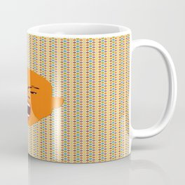 orange color male head screaming face pattern digital art zolliophone Coffee Mug