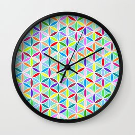 Flower of Life Pattern – Multicoloured Wall Clock