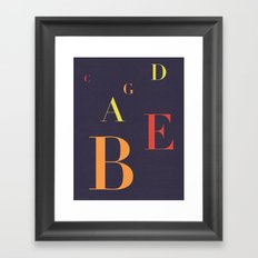 Fifths Framed Art Print
