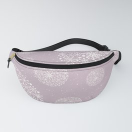 Snowflakes Pink #society6 #buyart Fanny Pack