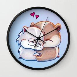 Hamsters HamHams Huggy Hugs Wall Clock