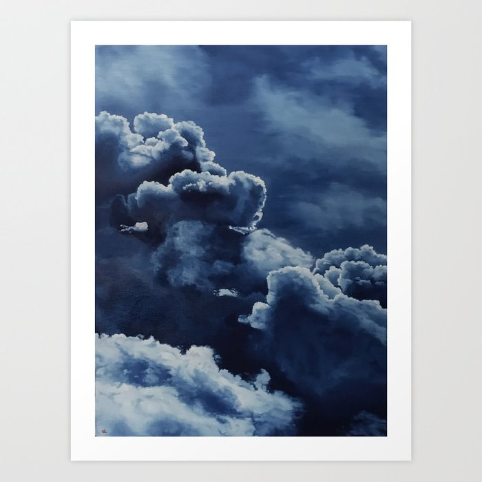 Storm Clouds Original Oil Painting By Sarah Lynch Art Print By Sarahlynchstudio Society6