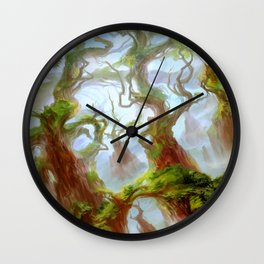 Wooded Foothills Wall Clock