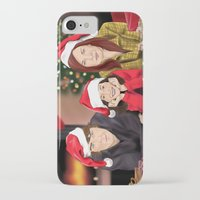 allison argent iPhone & iPod Cases featuring Merry Christmas - Argent Family by Finduilas