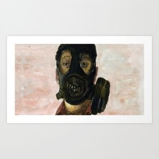 Gas mask Art Print