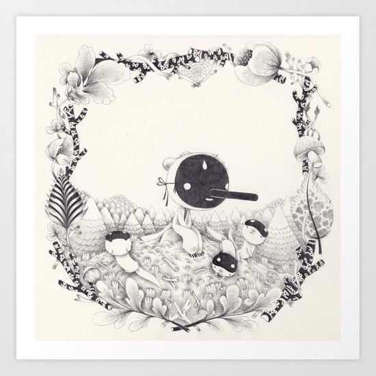 l'enfant loutre Art Print