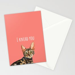 I Knead You Bengal Cat Stationery Cards