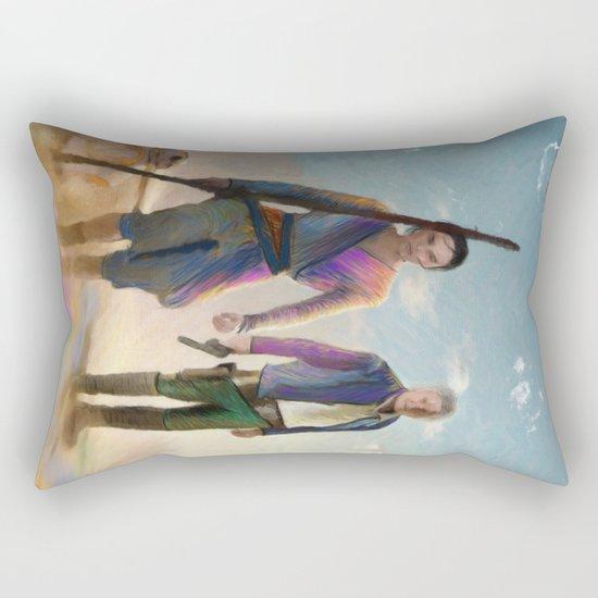 Rey and BB8 Rectangular Pillow
