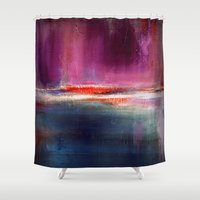 romance Shower Curtains featuring Romance by Liz Moran