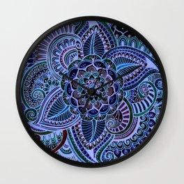 Really Blue Henna Style Wall Clock