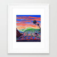 psychadelic Framed Art Prints featuring  Surf Art Psychadelic  by Surf Art Gabriel Picillo