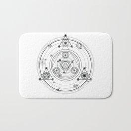 Sacred geometry and geometric alchemy design Bath Mat