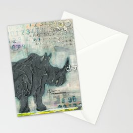 Majestic Series: Rhino on a roll Stationery Cards