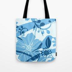 Bird in blue Tote Bag