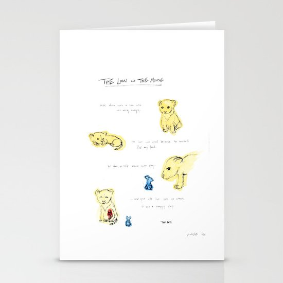 the lion  and the mouse. Stationery Cards