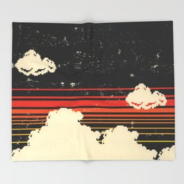 Clouds in the Sky at Night Throw Blanket
